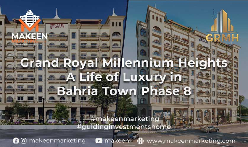 Luxurious Apartments in Bahria Town Phase 8 Grand Royal Millennium Heights