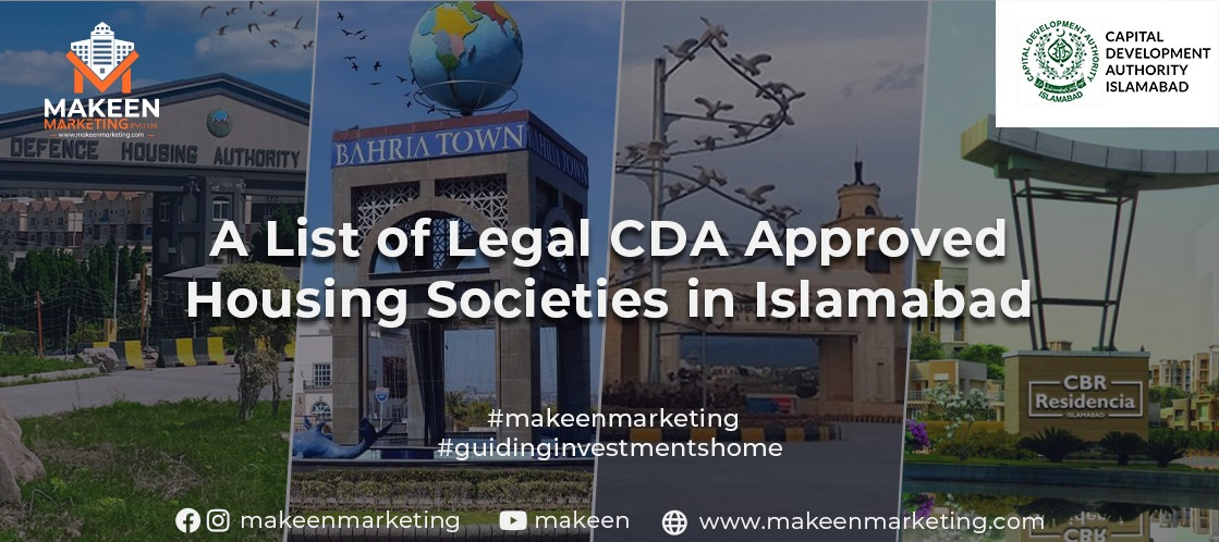 List of CDA Approved Housing Societies in Islamabad