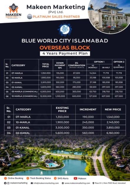 BWC Overseas Block Payment Plan