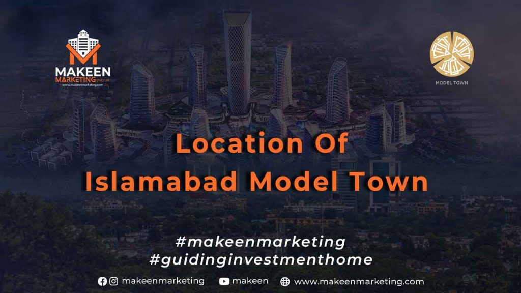 Location of Islamabad Model Town plot for sale