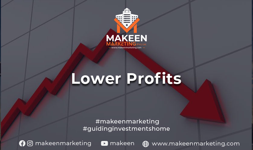 lower profits on residential property