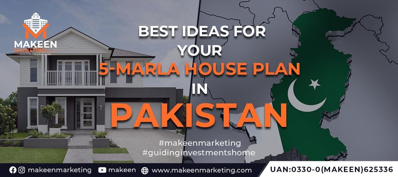 5 marla house plan in Pakistan
